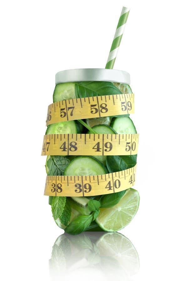 Concepto de la dieta, smoothie del detox fotos de archivo