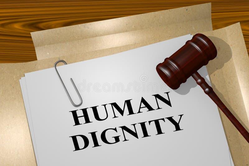 Concepto de la dignidad humana stock de ilustración