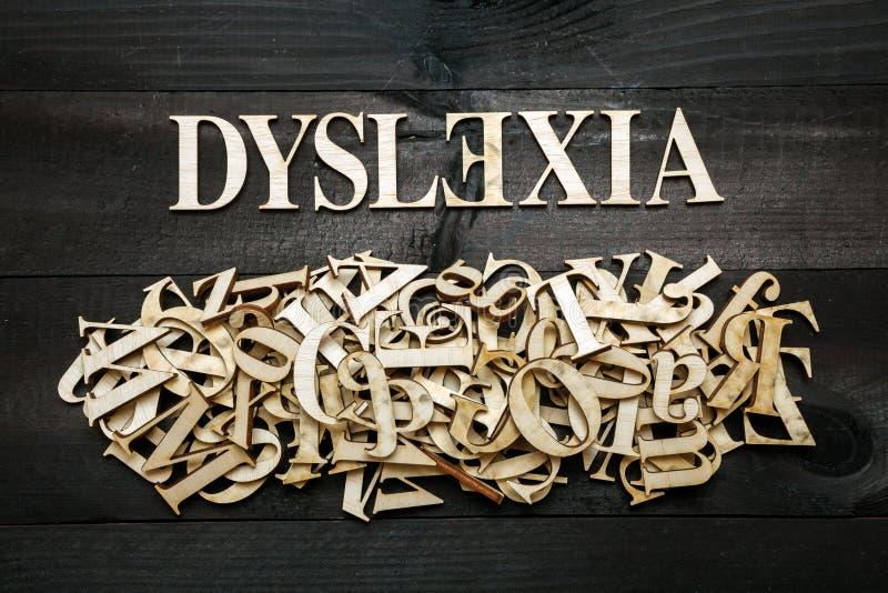 Concepto de la dislexia fotografía de archivo