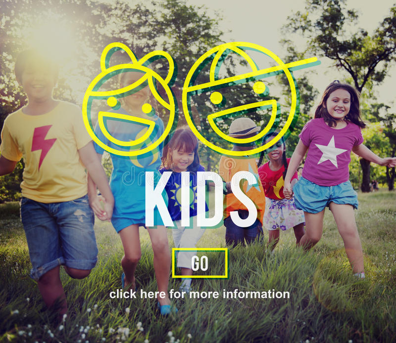 Concepto de la diversión de la generación de la adolescencia de la generación de los niños imagen de archivo libre de regalías