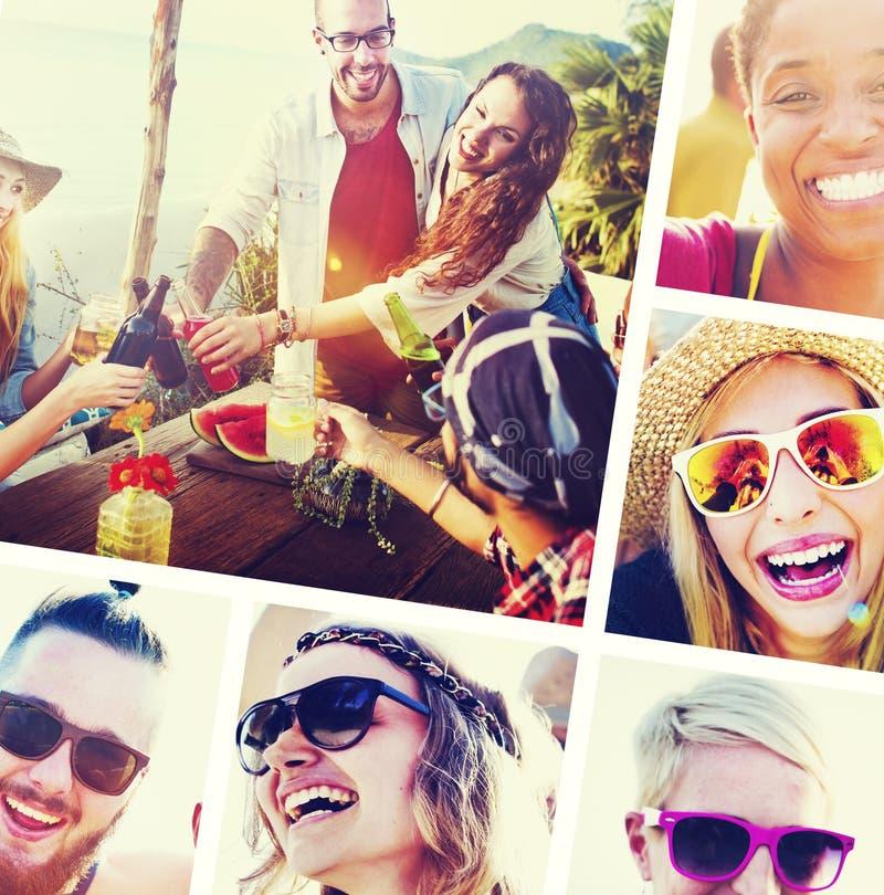 Concepto de la diversión de la unidad de las vacaciones del ocio de la amistad de los amigos foto de archivo