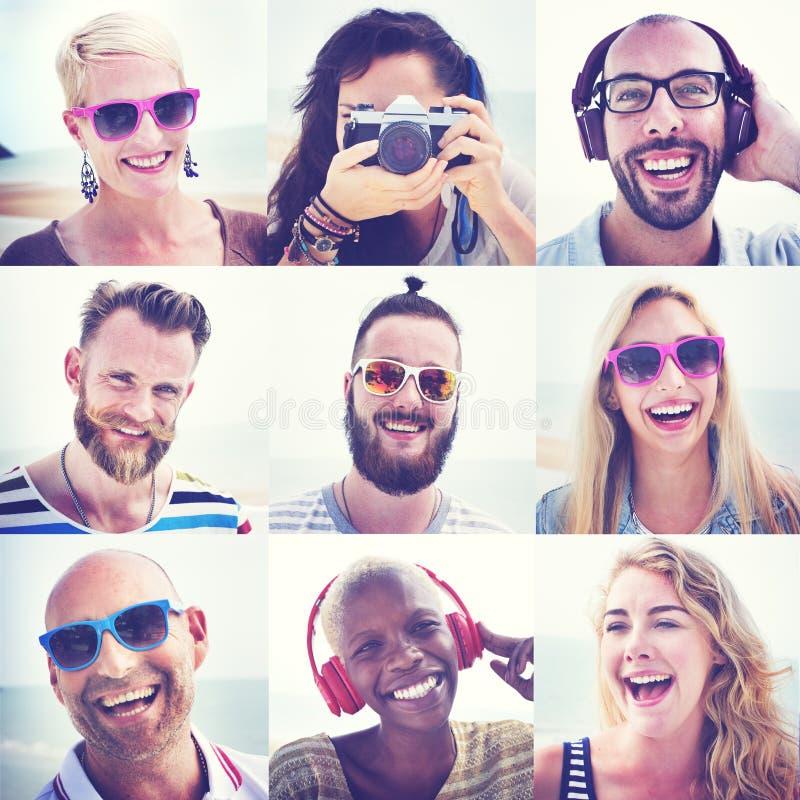 Concepto de la diversión de la unidad del retrato de la amistad de los amigos imagenes de archivo