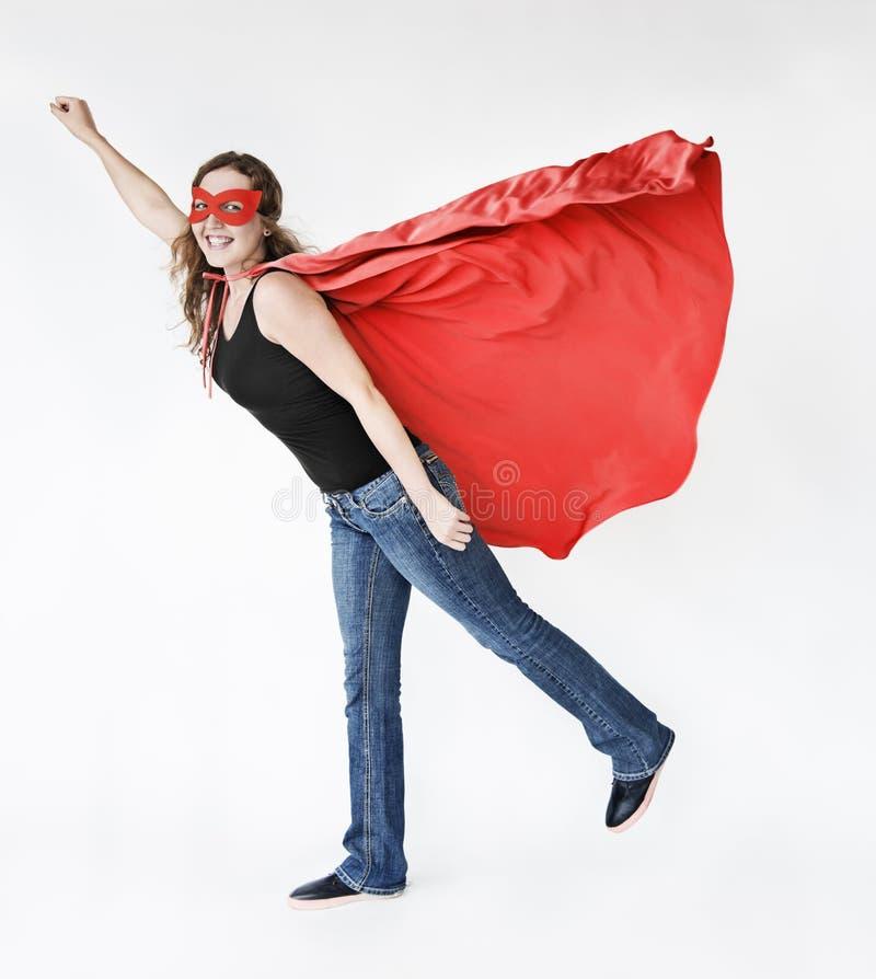 Concepto de la diversión del traje del superhéroe imagen de archivo libre de regalías