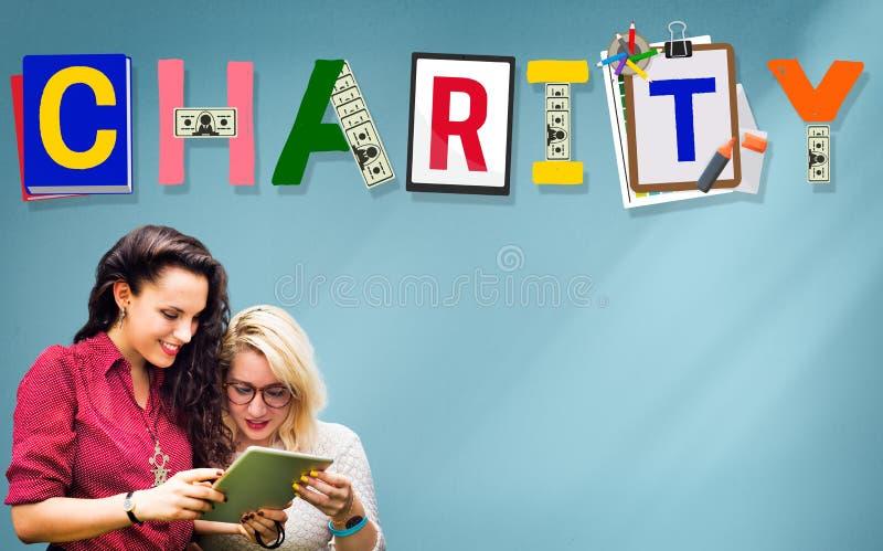 Concepto de la donación del bienestar de la ayuda de la ayuda de la caridad fotos de archivo libres de regalías