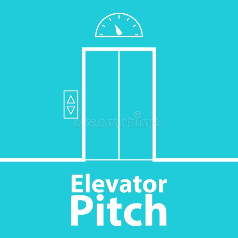 Concepto de la echada del elevador stock de ilustración
