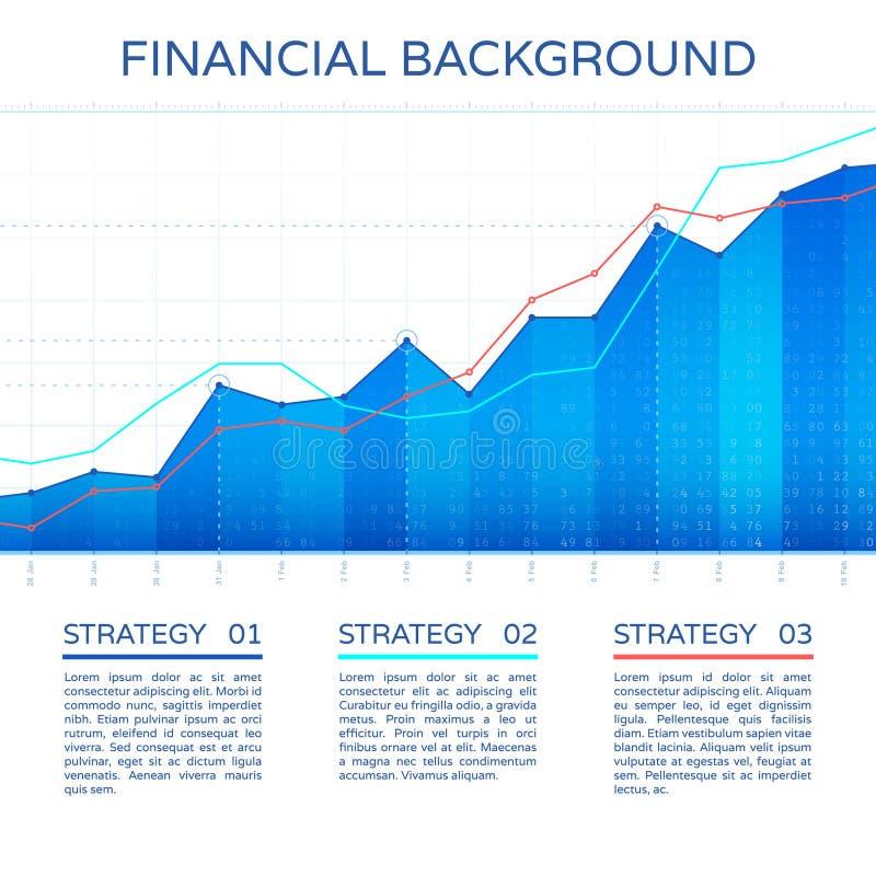 Concepto de la economía de la carta de crecimiento stock de ilustración