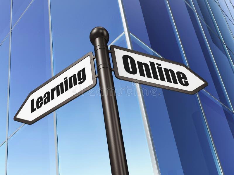 Concepto de la educación: aprendizaje en línea de la muestra encendido libre illustration