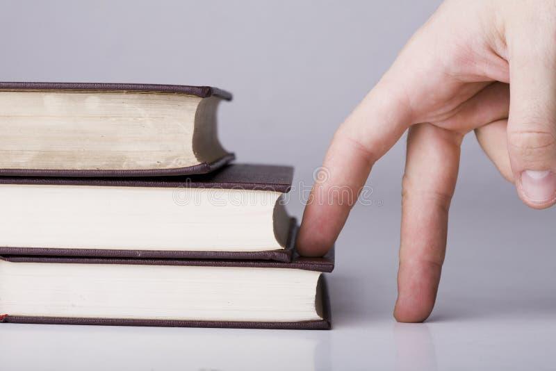 Concepto de la educación con los libros fotos de archivo libres de regalías