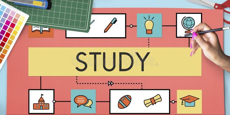 Concepto de la educación de la instrucción del estudio de la enseñanza de la escuela foto de archivo libre de regalías