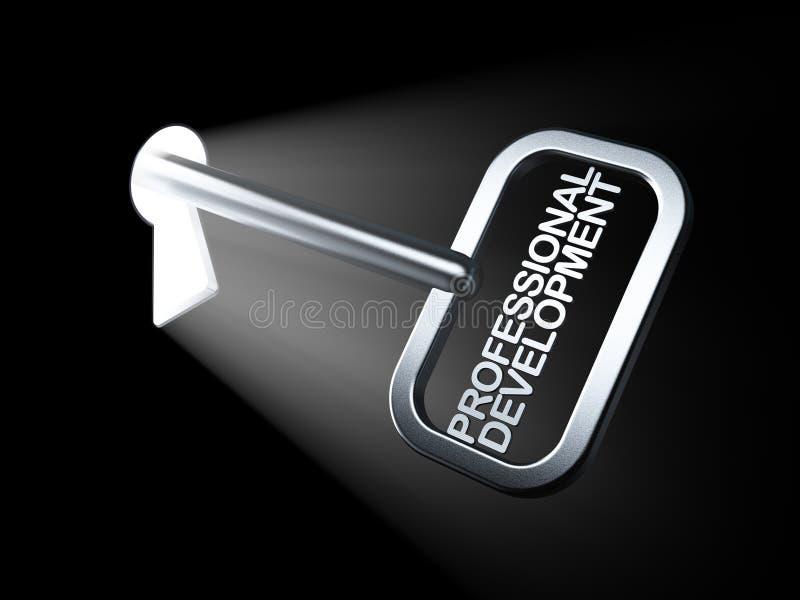 Concepto de la educación: Desarrollo profesional en llave libre illustration