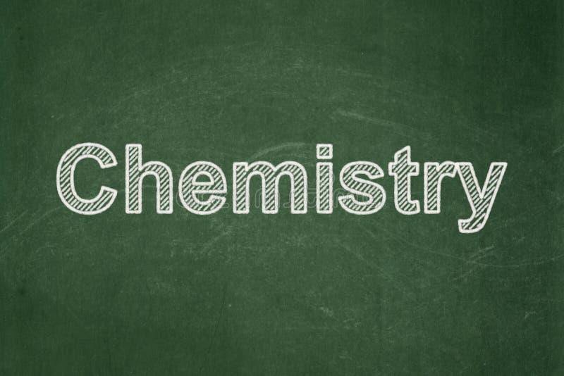 Concepto de la educación: Química en fondo de la pizarra imágenes de archivo libres de regalías