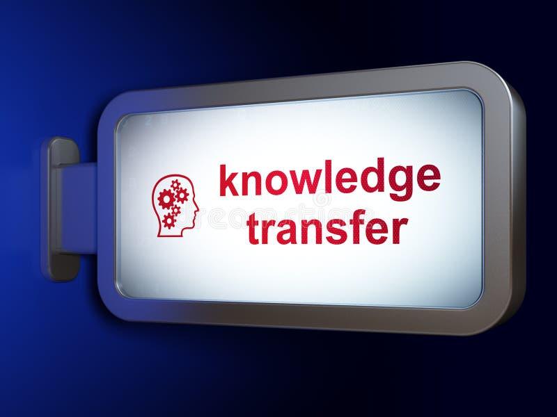 Concepto de la educación: Transferencia y cabeza del conocimiento stock de ilustración