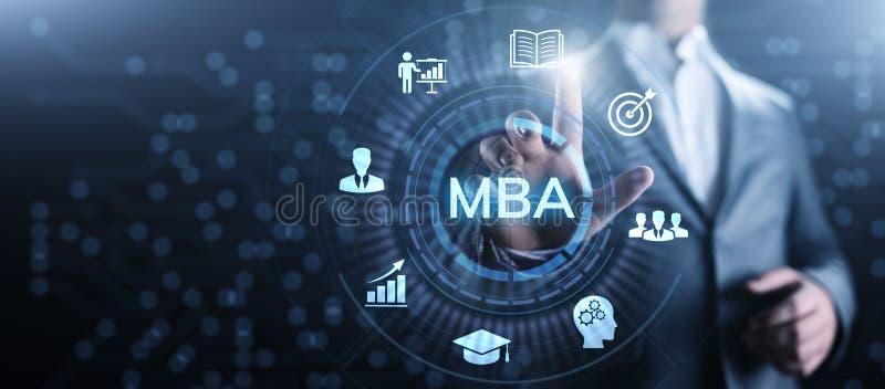 Concepto de la educaci?n del master en administraci?n de empresas de MBA fotografía de archivo libre de regalías