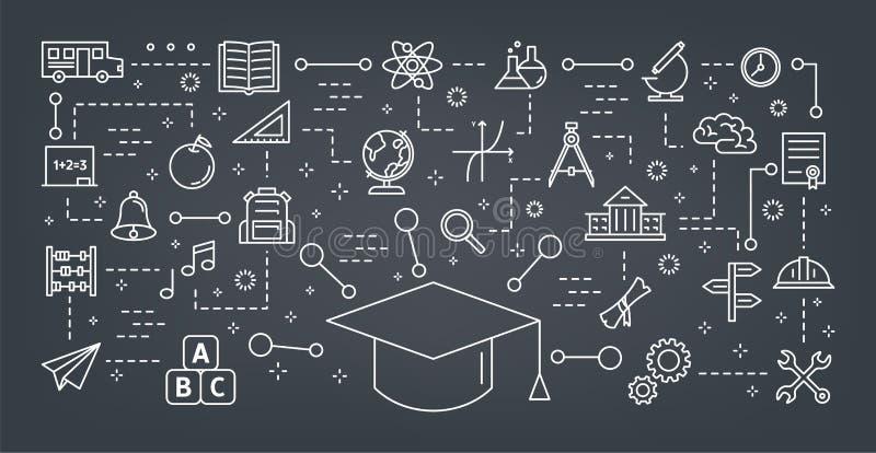 Concepto de la educaci?n Idea del aprendizaje y del conocimiento ilustración del vector