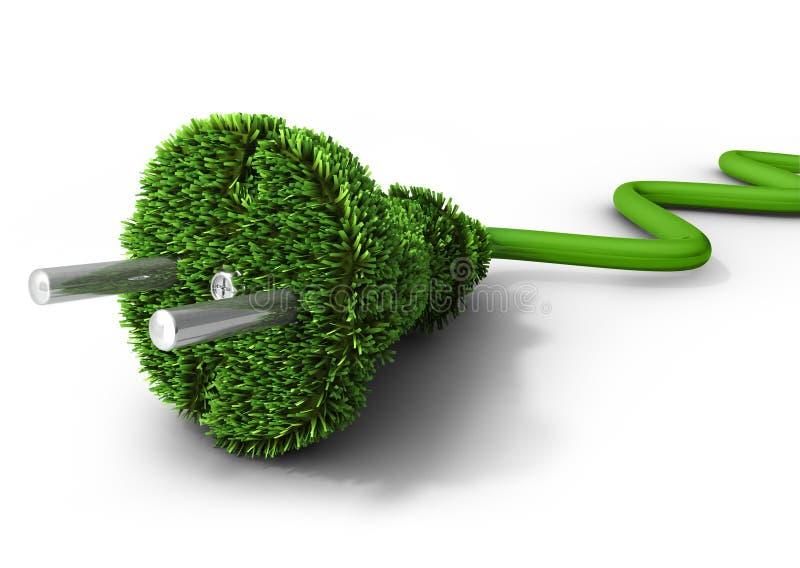 Concepto de la energía alternativa stock de ilustración