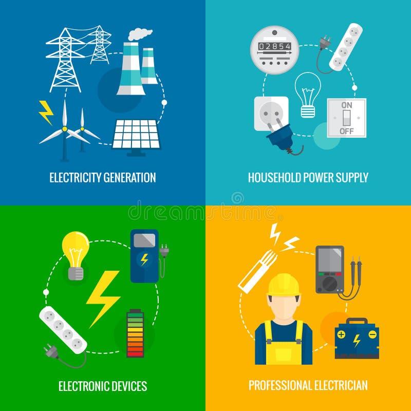 Concepto de la energía de la electricidad libre illustration