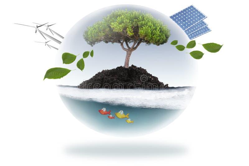 Concepto de la energía renovable stock de ilustración