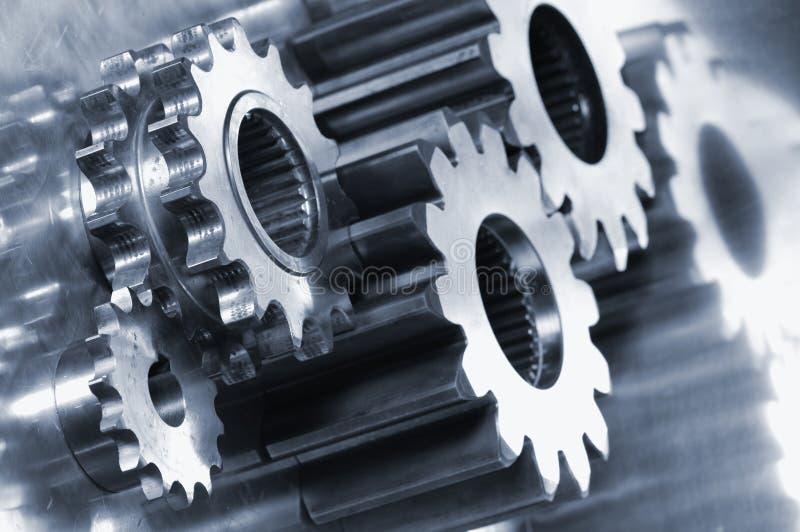 concepto de la Engranaje-maquinaria y del titanio foto de archivo libre de regalías