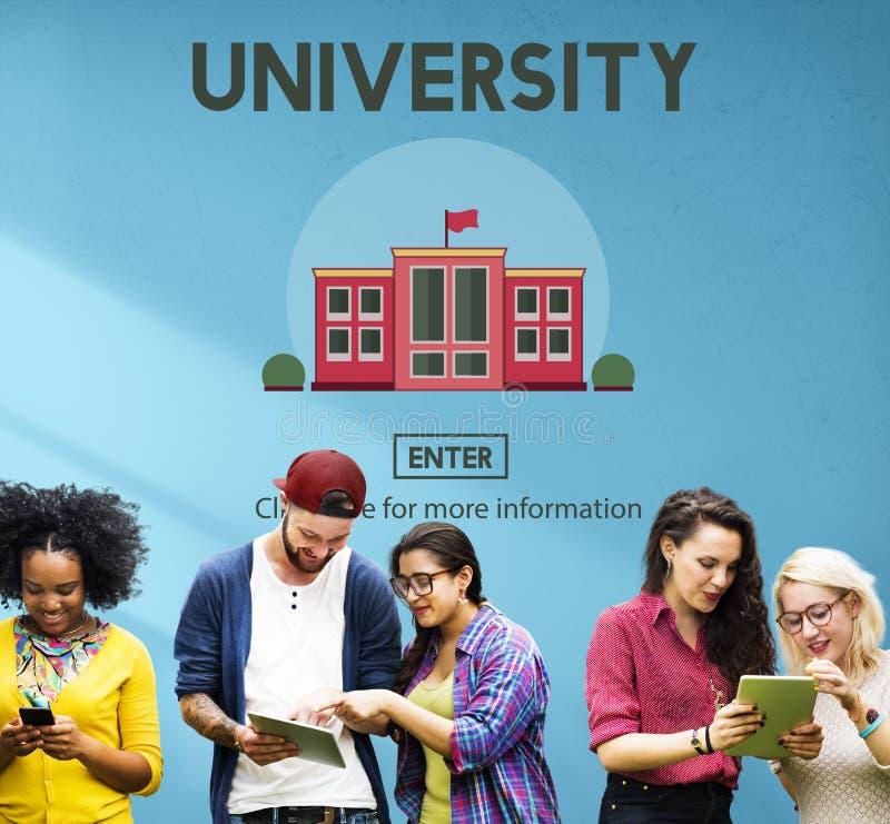 Concepto de la escuela del conocimiento de la educación del campus universitario fotografía de archivo libre de regalías