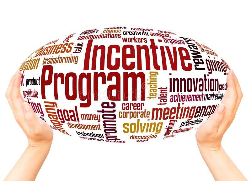 Concepto de la esfera de la mano de la nube de la palabra del programa incentivo libre illustration