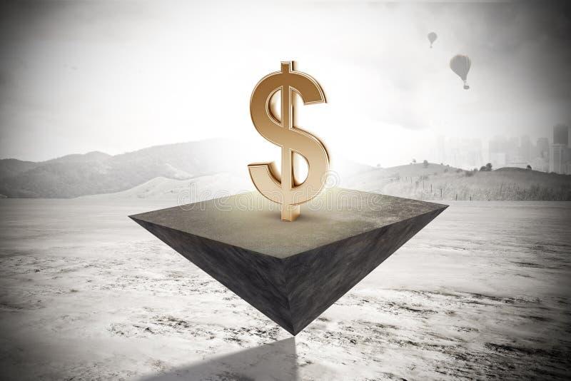 Concepto de la estabilidad y del beneficio stock de ilustración