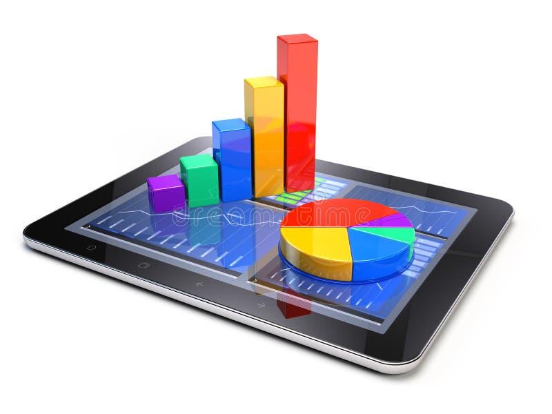 Concepto de la estadística de negocio stock de ilustración