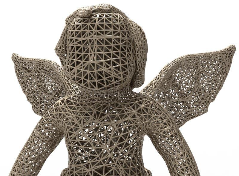 Concepto de la estatua del ángel de la malla fotos de archivo
