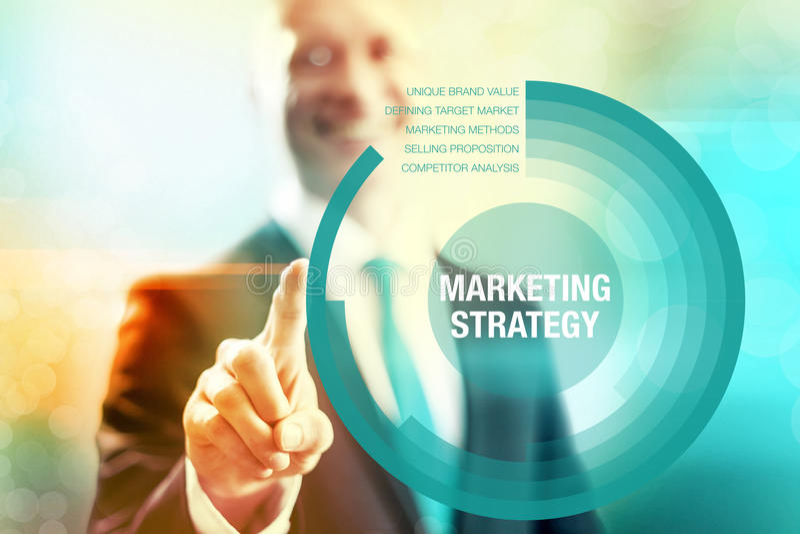 Concepto de la estrategia de marketing fotografía de archivo libre de regalías