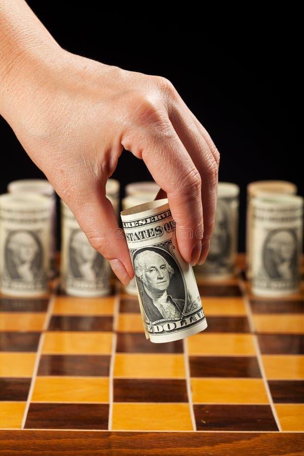 Concepto de la estrategia del dinero