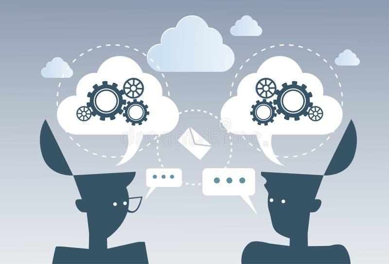 Concepto de la estrategia del proyecto del trabajo de la rueda del diente del proceso de la reunión de reflexión del negocio nuev stock de ilustración