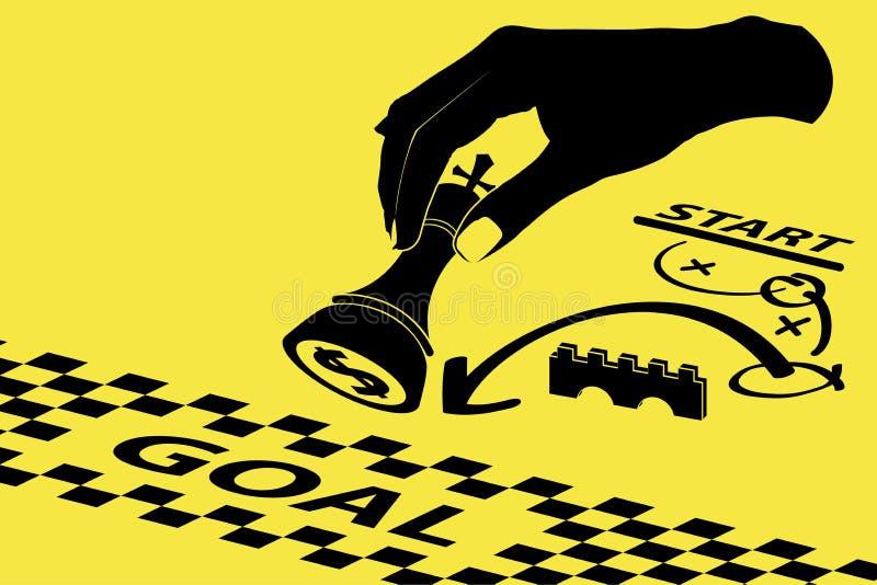 Concepto de la estrategia para el negocio con el pedazo de ajedrez libre illustration