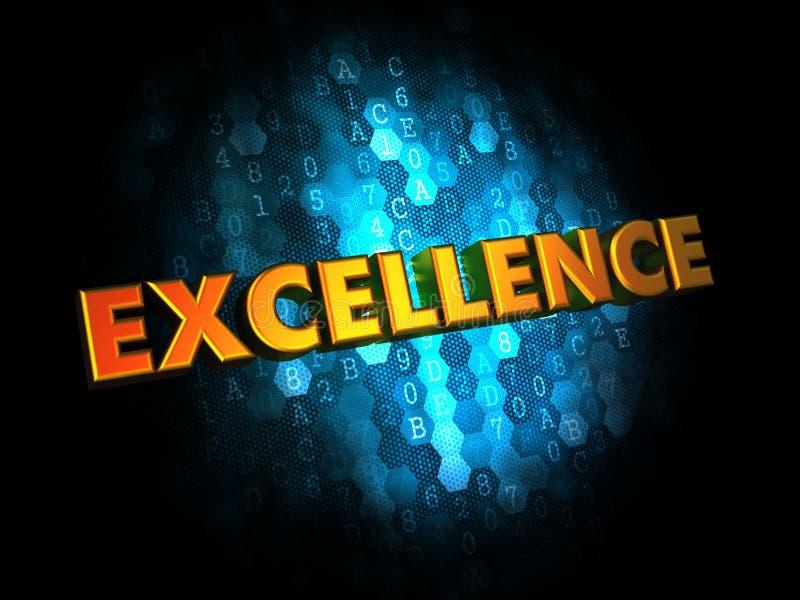 Concepto de la excelencia en los antecedentes de Digitaces. foto de archivo libre de regalías