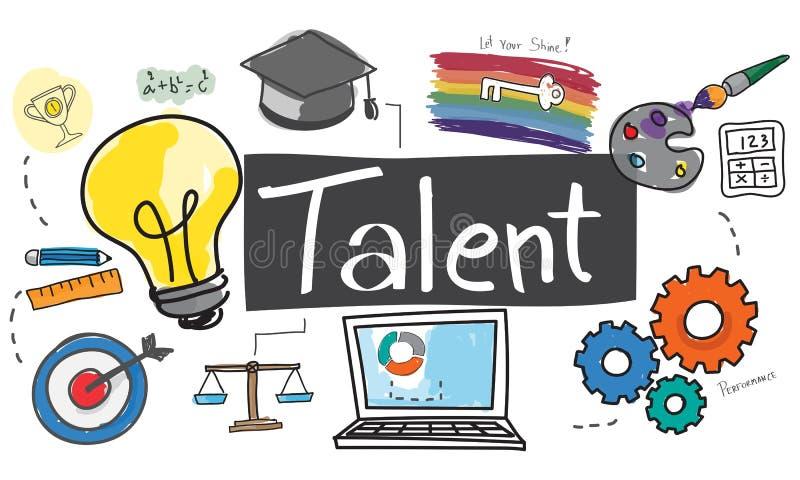 Concepto de la experiencia de la capacidad de las capacidades del empleo del talento libre illustration