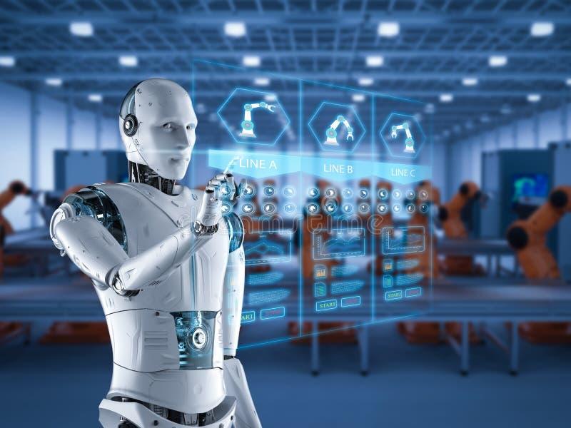 Concepto de la fábrica de la automatización