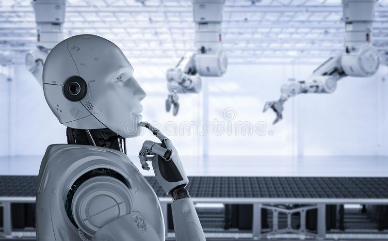 Concepto de la f?brica de la automatizaci?n