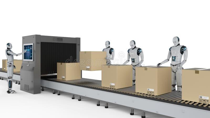 Concepto de la f?brica de la automatizaci?n stock de ilustración