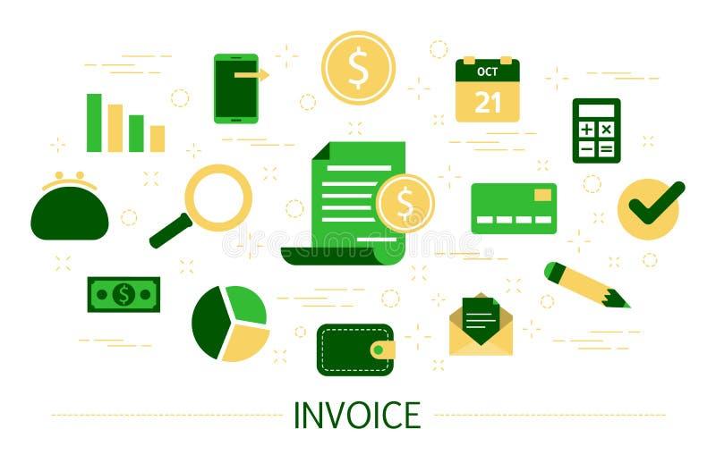 Concepto de la factura Idea del documento digital del pago libre illustration