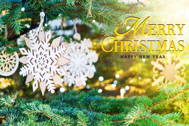 Concepto de la Feliz Navidad y de la Feliz Año Nuevo foto de archivo libre de regalías