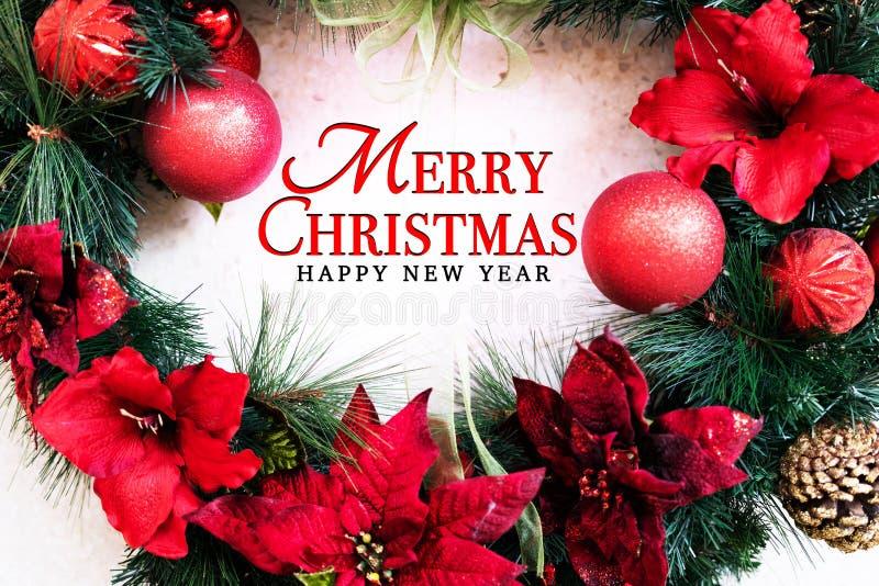 Concepto de la Feliz Navidad y de la Feliz Año Nuevo imagen de archivo