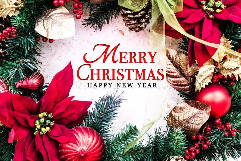 Concepto de la Feliz Navidad y de la Feliz Año Nuevo fotografía de archivo