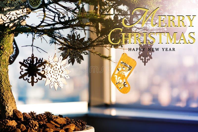 Concepto de la Feliz Navidad y de la Feliz Año Nuevo imagenes de archivo