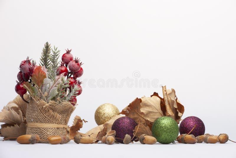 Concepto de la Feliz Navidad y de la Feliz Año Nuevo Primer, fondo del día de fiesta de Navidad imagen de archivo libre de regalías