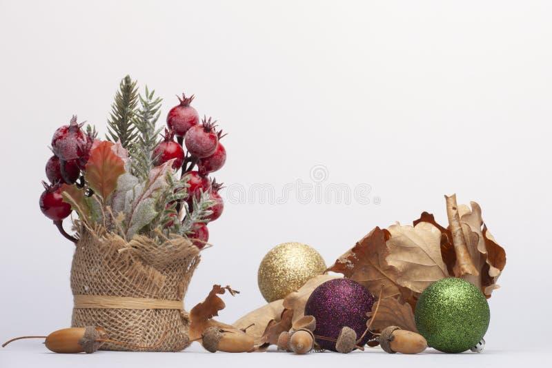 Concepto de la Feliz Navidad y de la Feliz Año Nuevo Primer, fondo del día de fiesta de Navidad imágenes de archivo libres de regalías