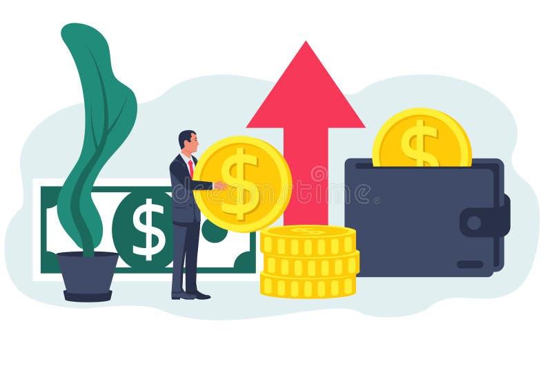 Concepto de la financiaci?n Dise?o plano del ejemplo del vector stock de ilustración