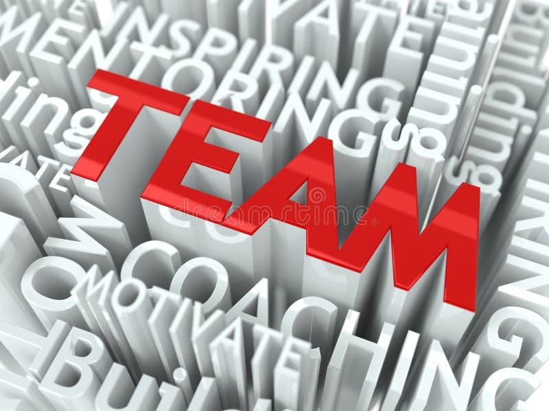 Concepto de la formación de equipo. ilustración del vector