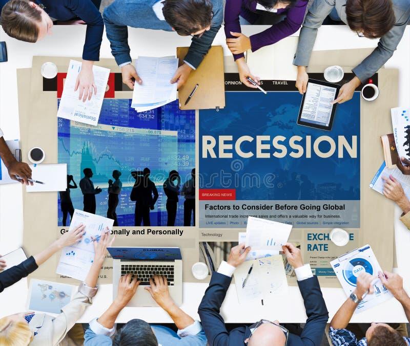 Concepto de la frustración de la depresión del desplome de la crisis del fall de la recesión imagen de archivo