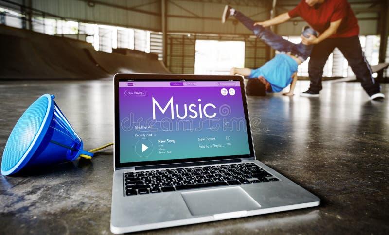 Concepto de la fuerza de la motivación del entrenamiento de la música foto de archivo libre de regalías
