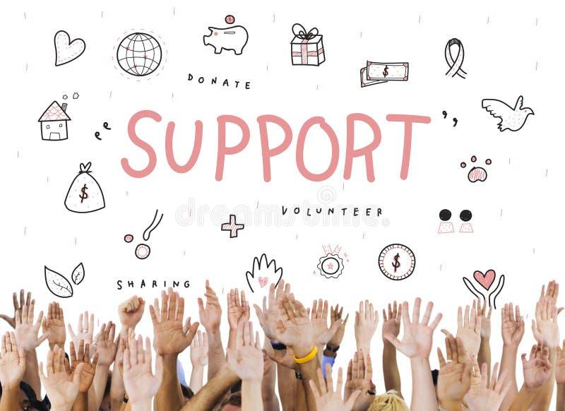 Concepto de la fundación de la caridad de las donaciones de la ayuda imagen de archivo libre de regalías