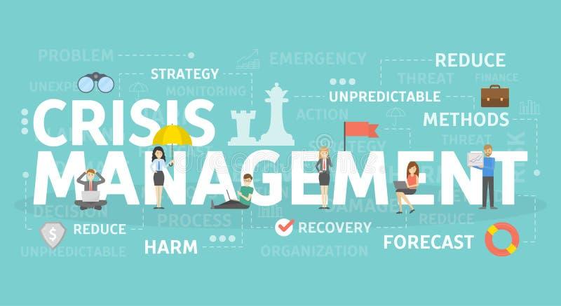 Concepto de la gestión de crisis ilustración del vector