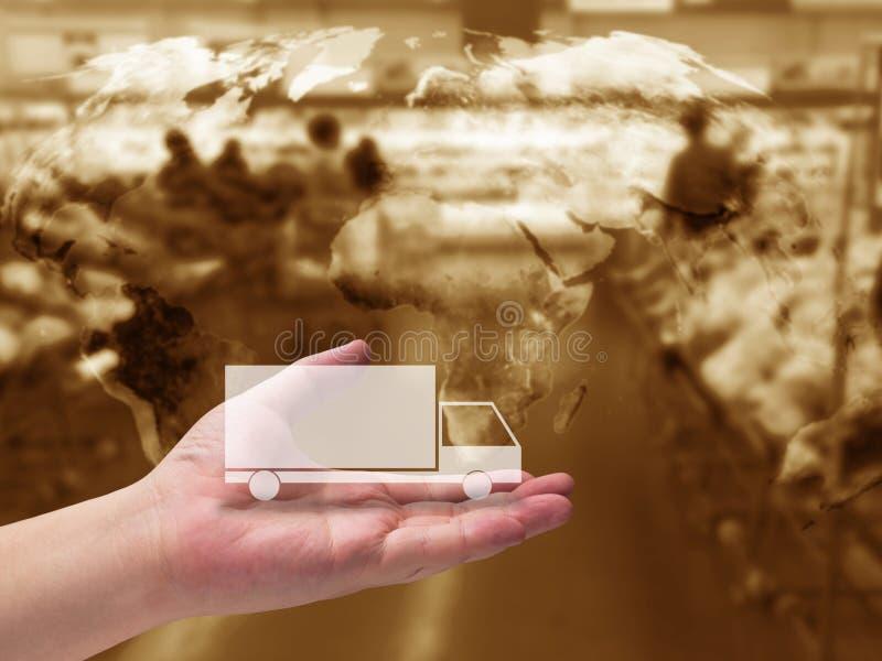 Concepto de la gestión de la cadena de suministro fotografía de archivo libre de regalías